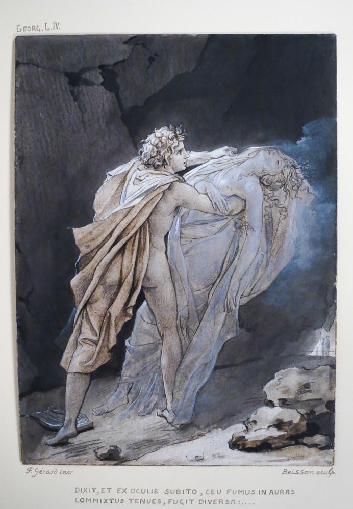 Originele 18e eeuwse tekening gesigneerd door Baron Gérard en Girodet