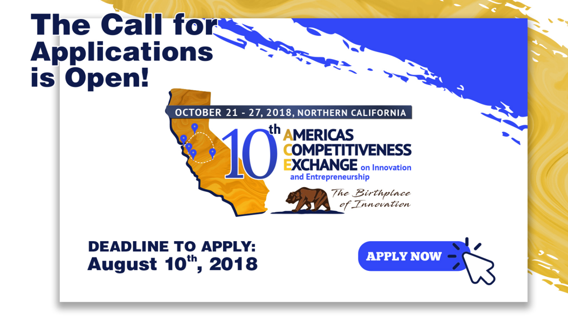 Applications are open for 10th Americas Competitiveness Exchange on Innovation and Entrepreneurship