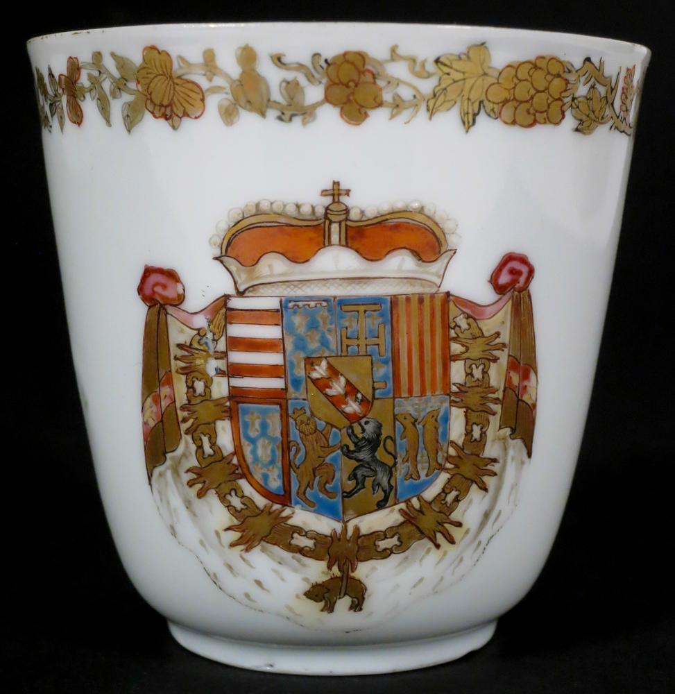 Une tasse en porcelaine de l'époque de Charles-Alexandre de Lorraine