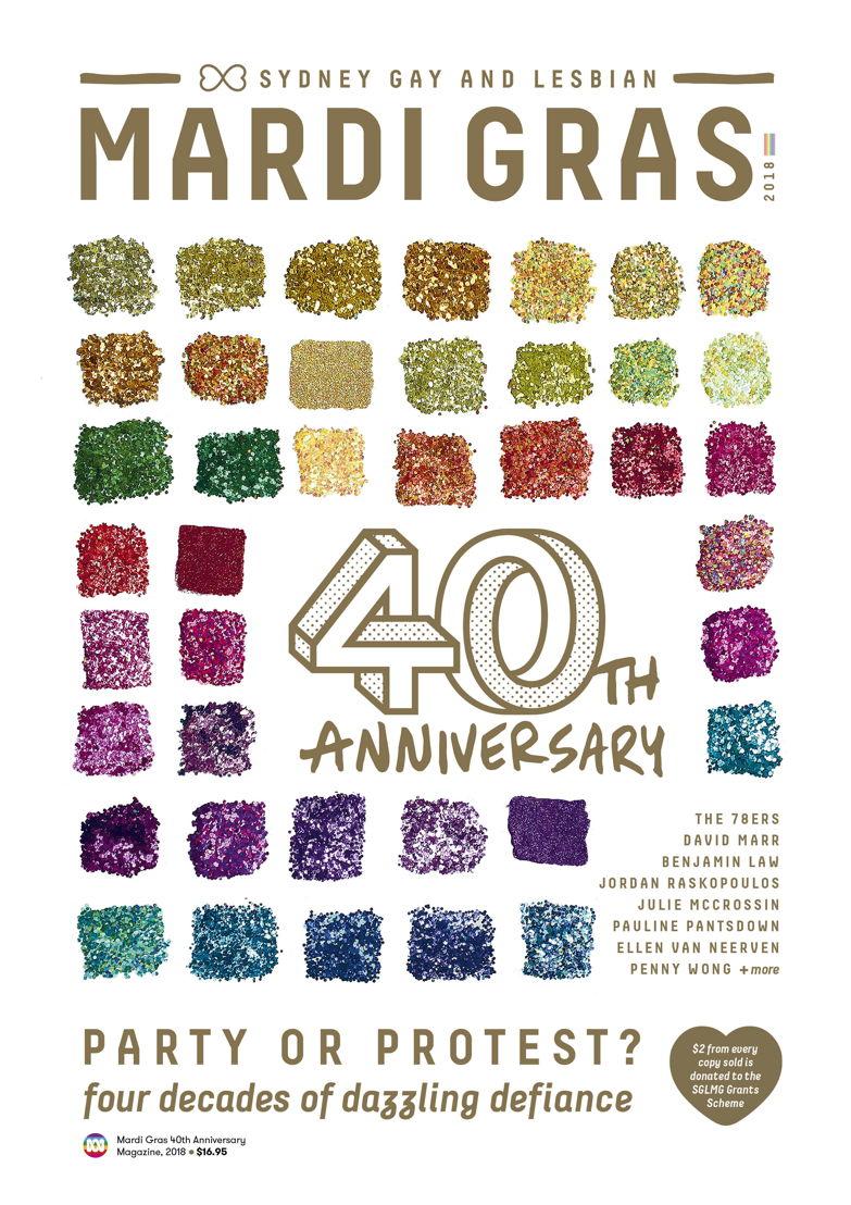 Mardi Gras Magazine cover