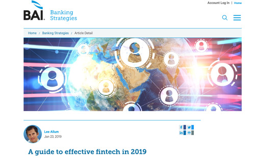 A guide to effective fintech in 2019