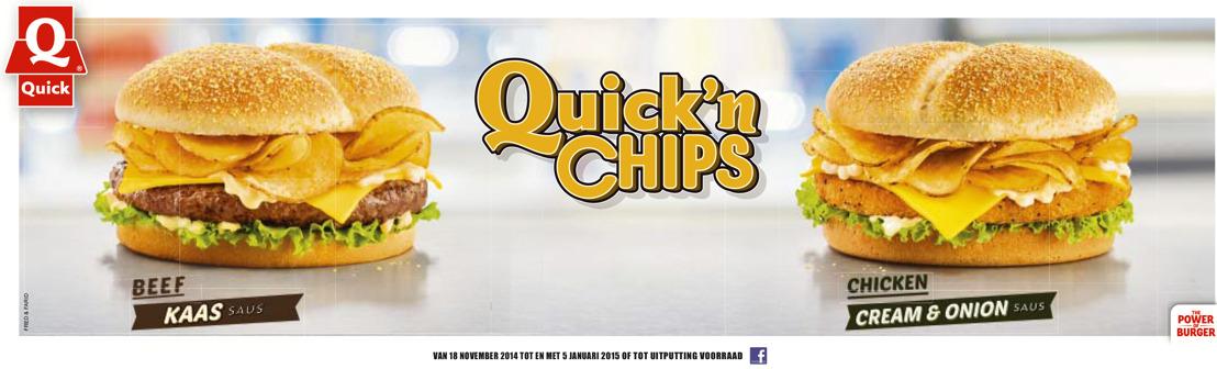 Quick'n Chips: Knisperige huisgebakken chips voor een extra knapperige hamburger