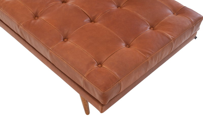 Alex daybed - Leather Hermes Bronze