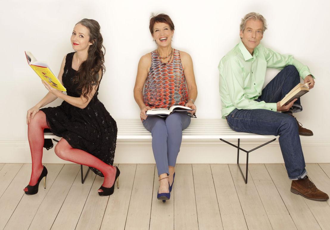 Marike Hardy, Jennifer Byrne and John Lanchester