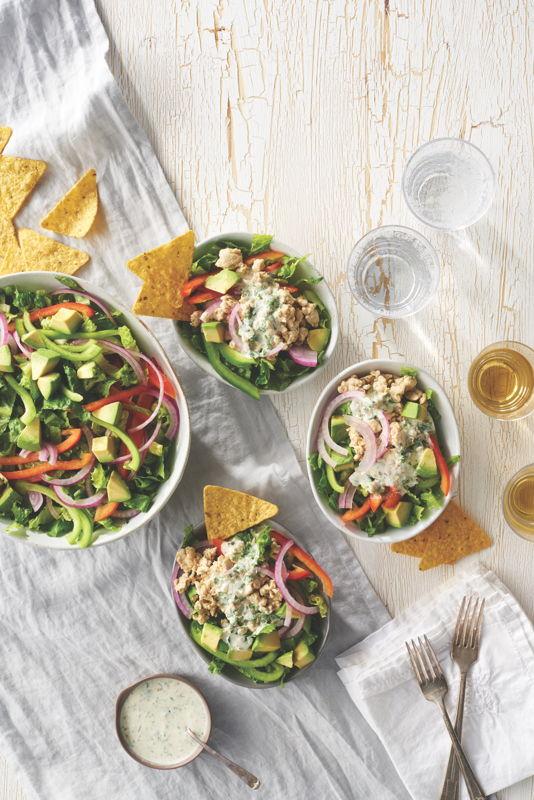 Turkey Green Chile Taco Salad