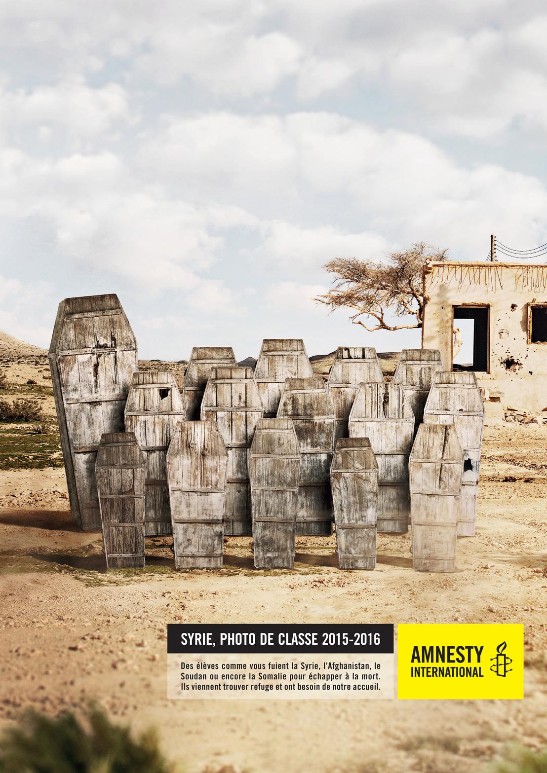 Air neemt klasfoto voor Amnesty.