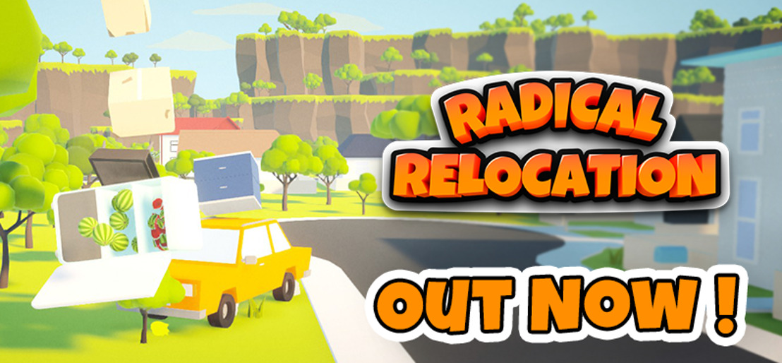 OUT NOW on STEAM! Physics Puzzler Radical Relocation!🚗⚱️📦