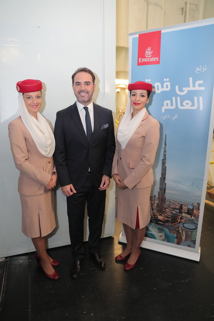 Wael Jassar, before his showstopping appearance with Emirates cabin crew at the 2017 Stars on Board cruise