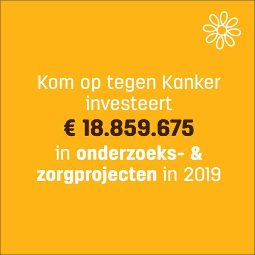 Kom op tegen Kanker reikt bijna 19 miljoen euro uit aan onderzoek en zorgprojecten