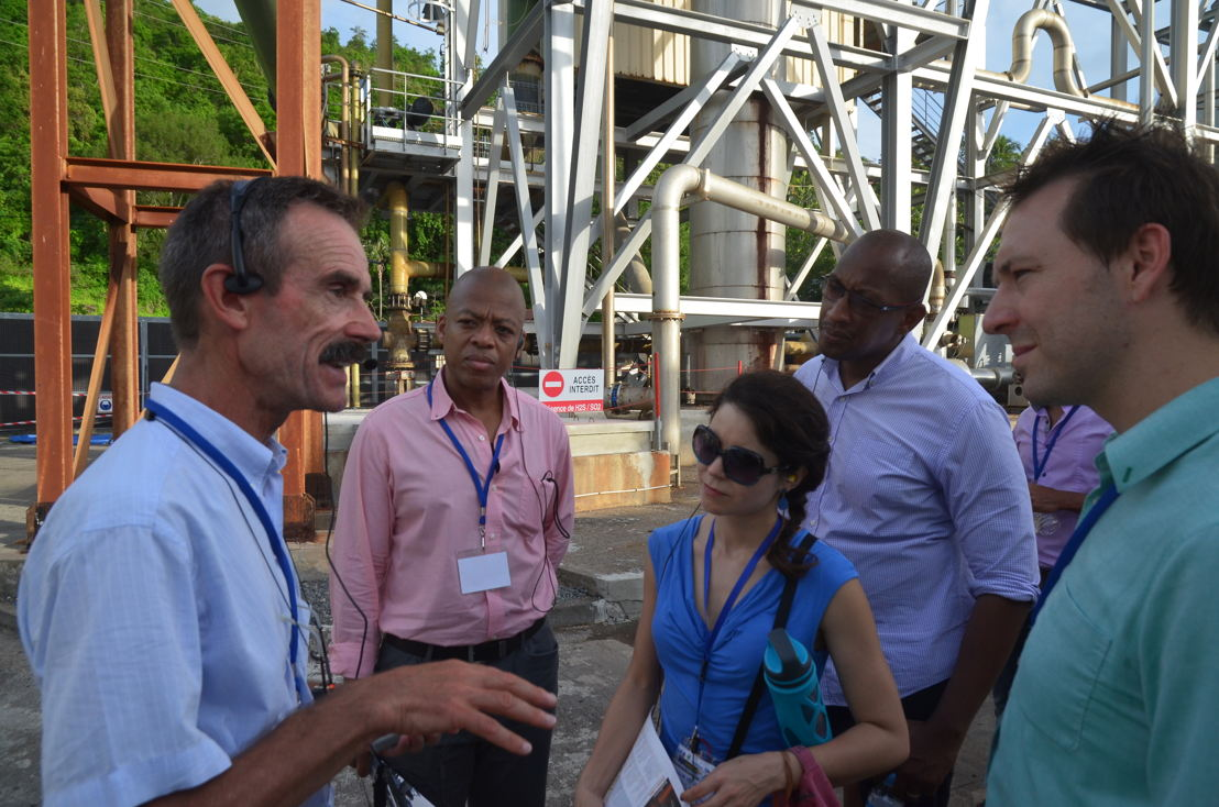 Regional energy stakeholders on site visit at Bouillante in Guadeloupe