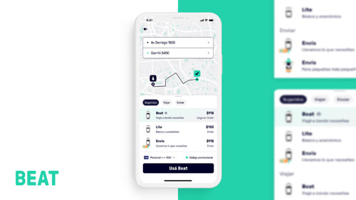 Beat rediseña la app de pasajeros para mejorar la experiencia al solicitar viajes