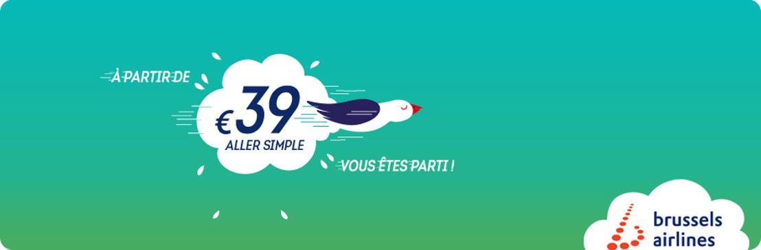 Brussels Airlines lance des tarifs one-way afin d'offrir davantage de choix
