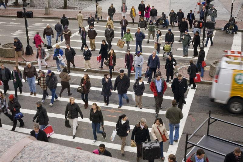 Myriam Van Imschoot & Willem de Wolf - In koor - 21/09 - photo: Faneuil Hall Crosswalk from Selected People (c) Pelle Cass