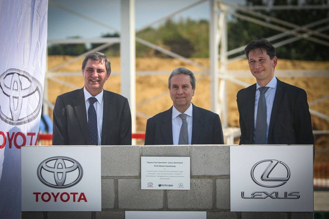 Dr. Johan van Zyl, President & CEO, Toyota Motor Europe, Aris Aravanis, CEO Continental Europe, Inchcape Plc, Timothy Manuel, Managing Director Toyota&Lexus Belux