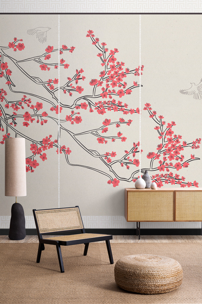 Murals inspired by Japanese design celebrate the start of Sakura season