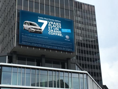 Volkswagen et DDB vous font découvrir l'espace immense du Caddy Maxi Family Edition.
