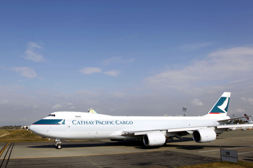 Cathay Pacific begins taking delivery of advanced Boeing 747-8 Freighters