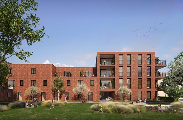 Nieuwe fase Pier Kornel: 50 appartementen, 15 woningen en 2.000m2 groen