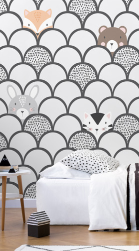 Playful Paired With Chic For The Perfect Kids Murals