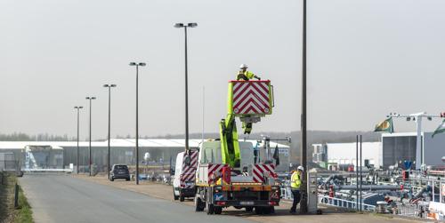 Fluvius plaatst bijna 2 500 nieuwe ledlampen in Port of Antwerp