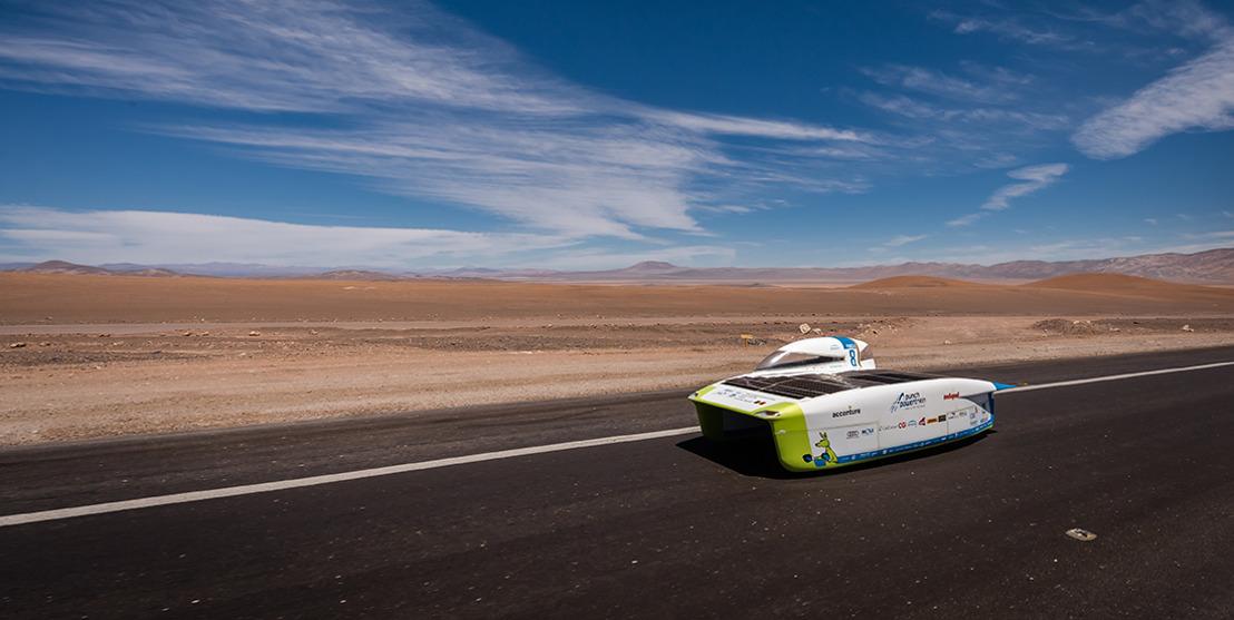 Belgische zonnewagen breekt records tijdens meest extreme race