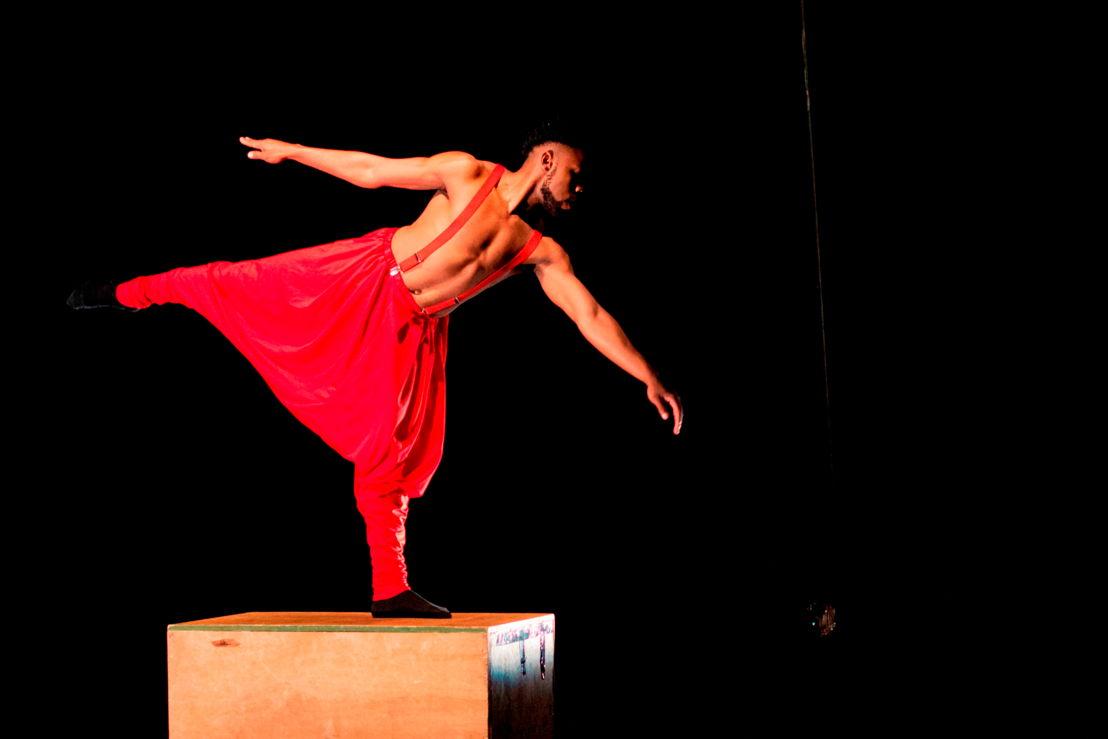 Eugene Masiane performs in ...feathers..._CuePix: Jodi van Vuuren_NAF 2016