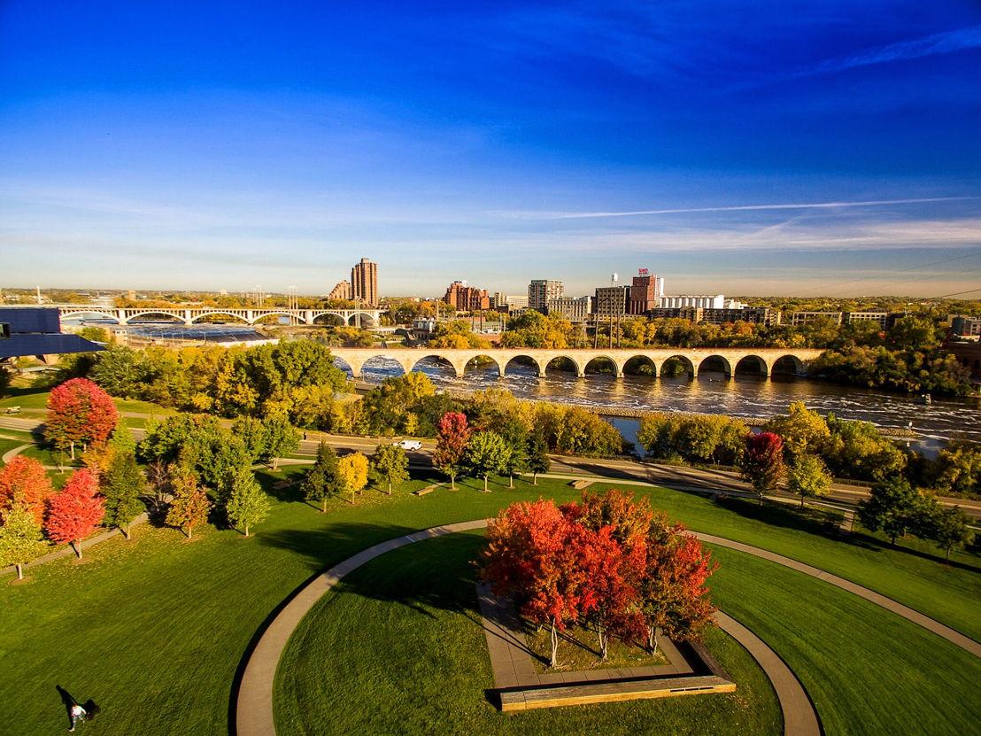 View to Minneapolis CBD