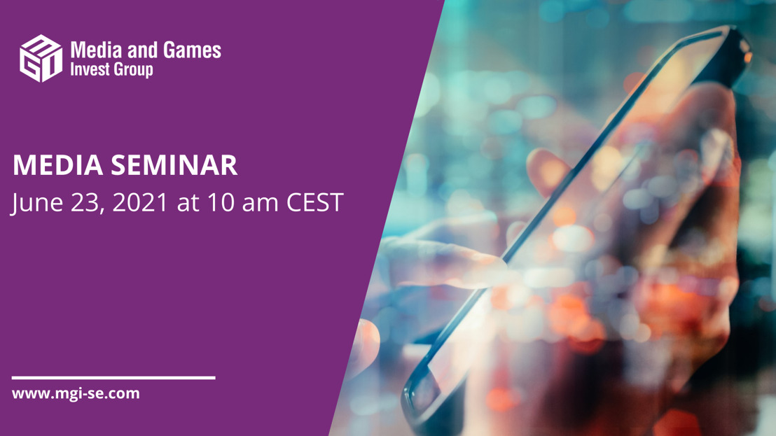 Media and Games Invest invites investors to a presentation about the media unit Verve Group on June 23, 2021 at 10am CEST