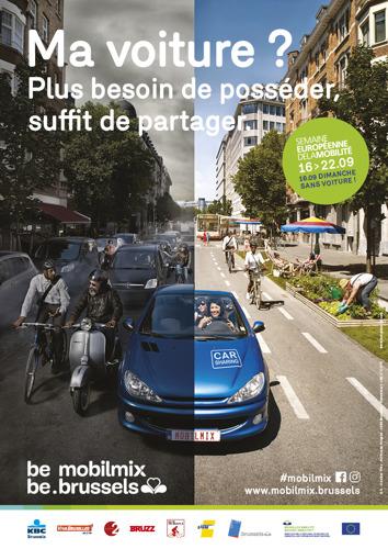 Opnieuw een succesvolle en zonnige 18e editie van de Autoloze Zondag in Brussel