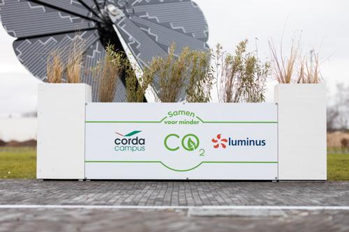 Une fleur écologique fournira 4000 kWh d'énergie verte au Corda Campus