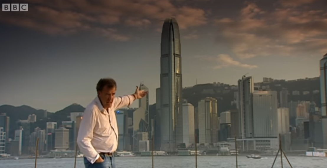 West Kowloon Cultural District - Jeremy Clarkson reviewed a car on BBC's Top Gear in 2010. Photo by BBC Top Gear