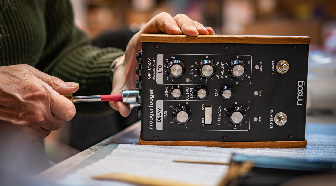 A Small Batch of New MF-104M Analog Delays Has Been Created at the Moog Factory in Asheville, NC.