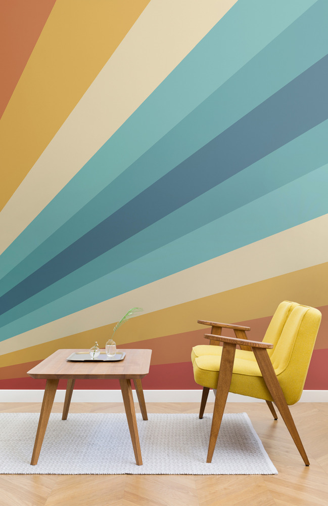 Preview: Feel-good Decor You'll Dig - 70s inspired retro wallpaper