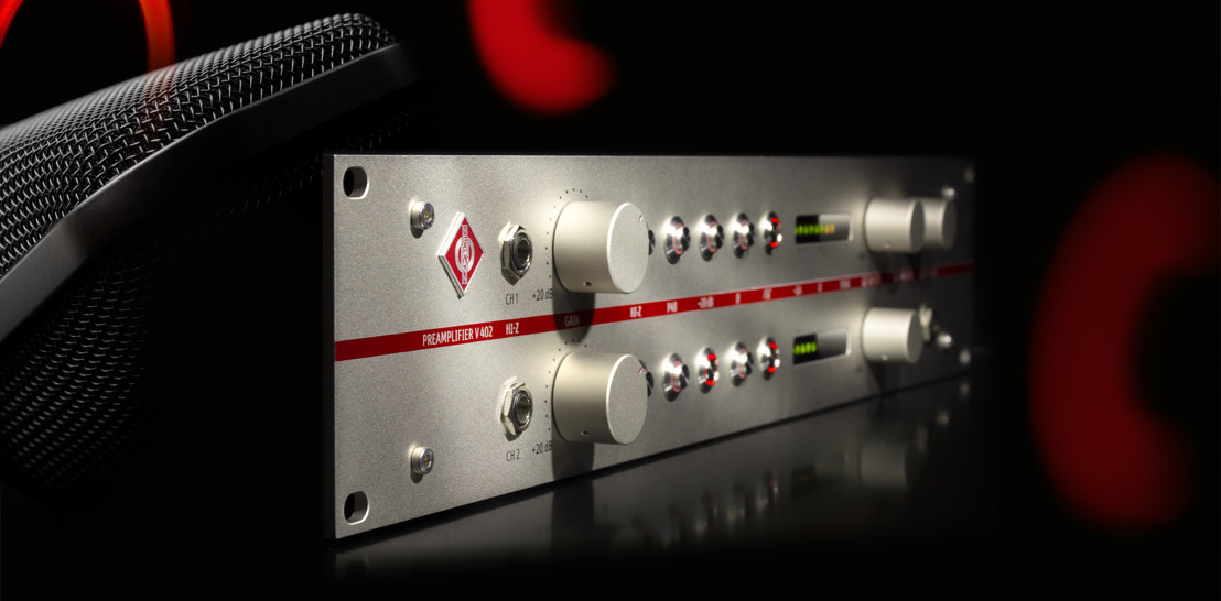 Neumann introduces the V 402 Preamp