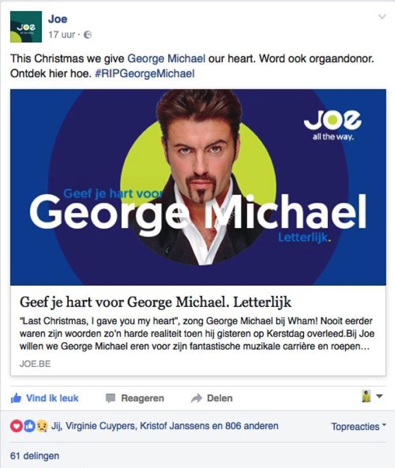 Facebookpost JOE