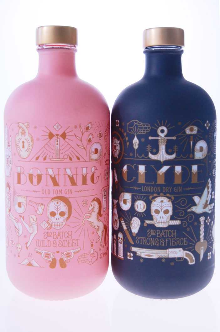 Bonnie & Clyde Gin Batch II Tubeverpakking / 2 x 50 cl / €160