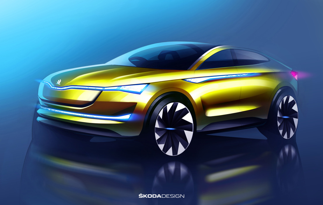 European premiere for ŠKODA VISION E concept car at the IAA