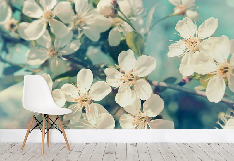 Sunlight Flowers  Wallpaper Mural