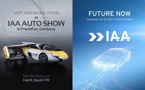 AeroMobil to exhibit at the prestigious world automotive exhibition in Frankfurt