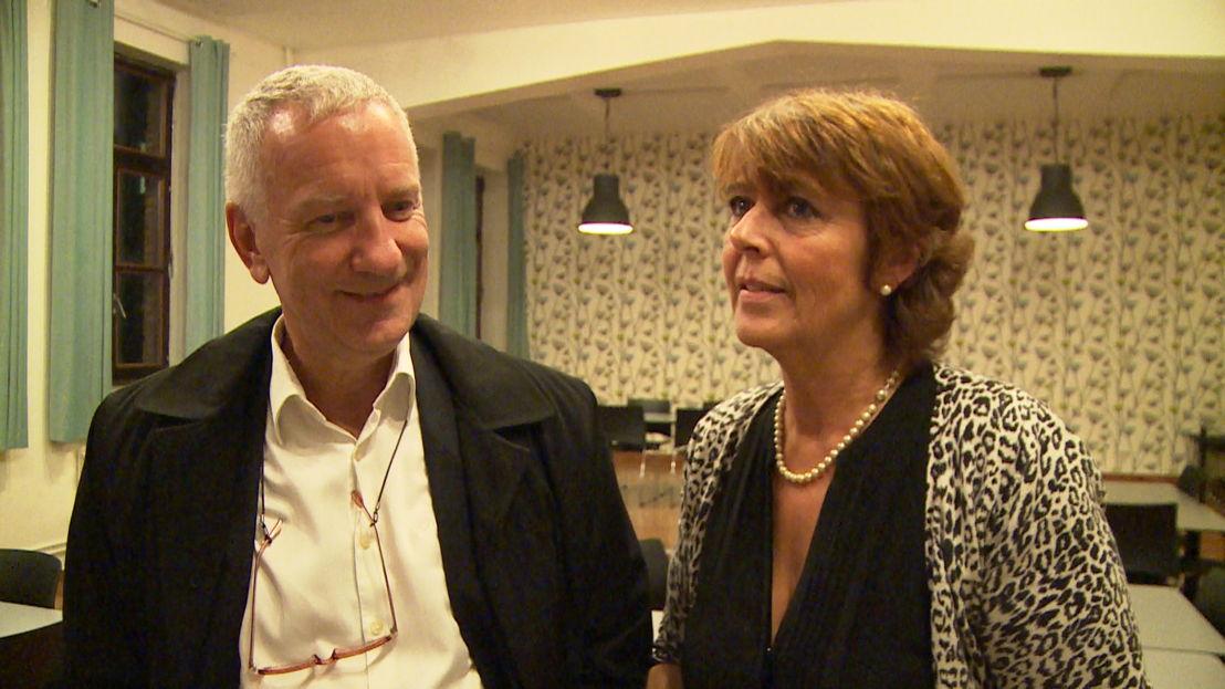 Theo Vaes en Marijke Moens van vzw ArmenTeKort - (c) Nieveranst