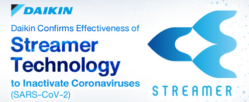 La technologie Streamer de Daikin inactive plus de 99,9 % du nouveau coronavirus (SARS-CoV-2)