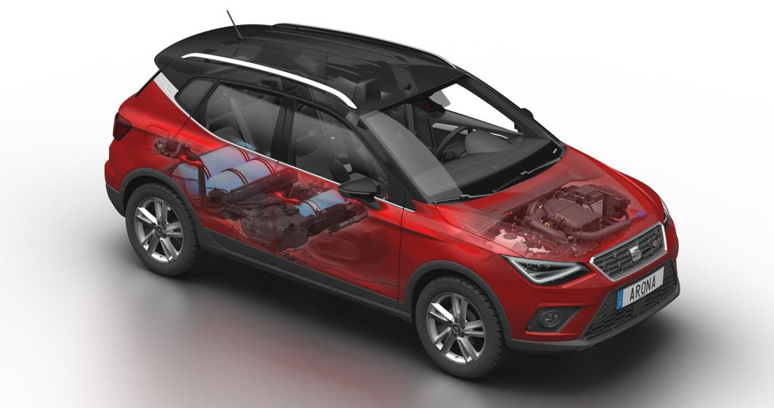 Wereldpremière van de nieuwe SEAT Arona TGI op het autosalon van Parijs