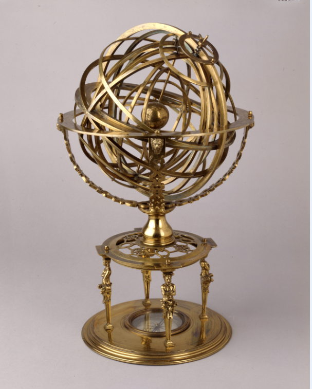 In Search of Utopia © Armillary Sphere, 1573, Bayerisches Nationalmuseum, Munich.