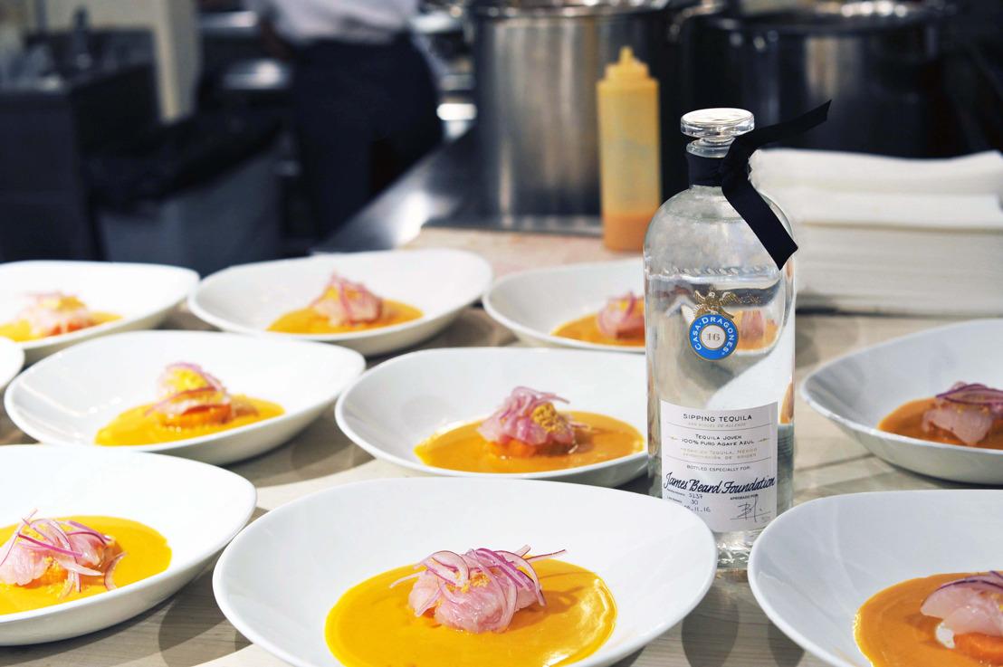 Tequila Casa Dragones marida original menú en la James Beard Foundation en Nueva York
