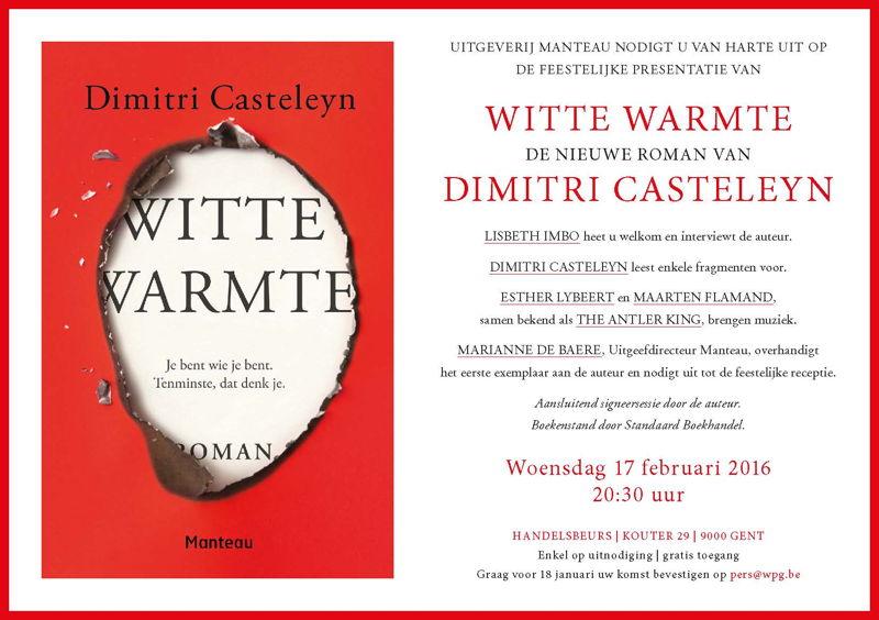 Uitnodiging boekvoorstelling 'Witte warmte'