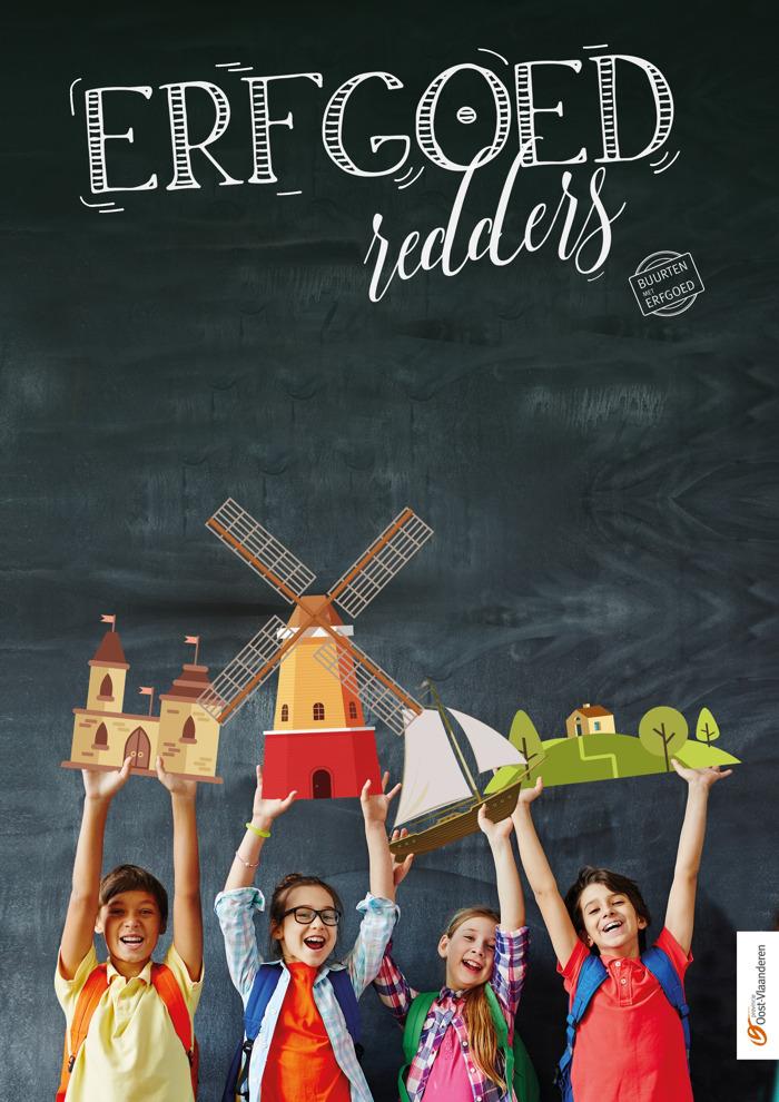 Erfgoedredders Stekene: Basisschool 7-Sprong loopt Erfgoedwandeling Kemzeke in