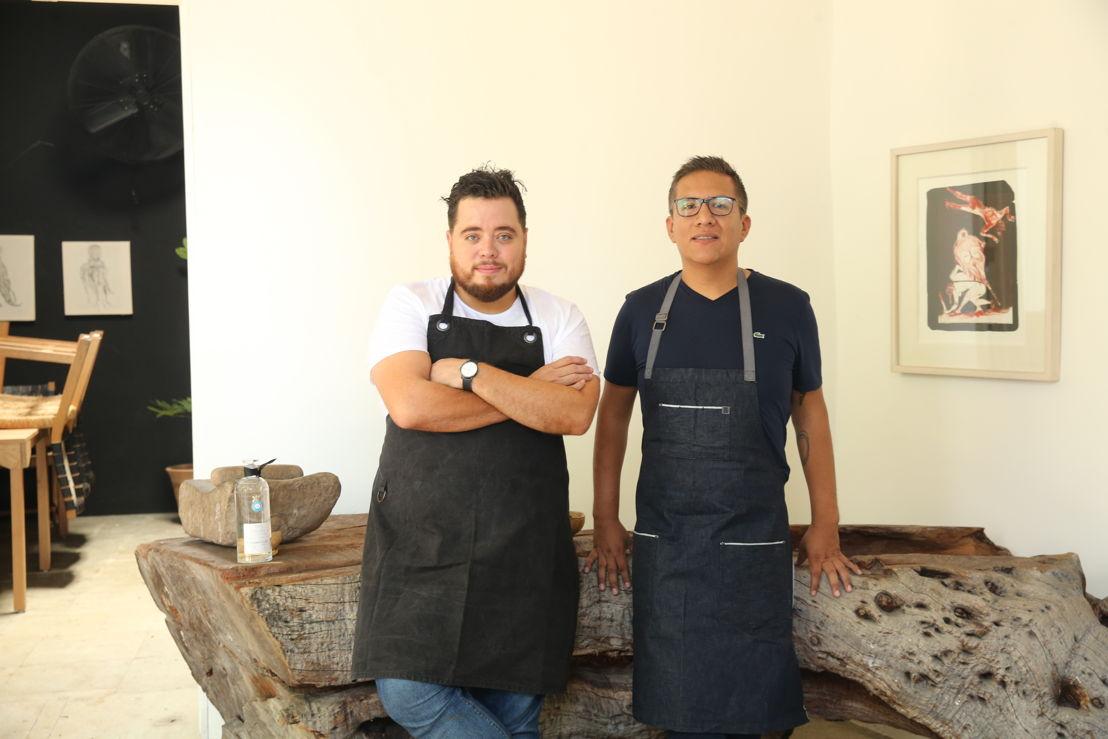 Chefs Jorge Vivanco -Coko Becker, de Annabel's Restaurant en Londres y Alejandro Villagomez, de Costa Baja Restaurant