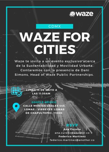 WAZE FOR CITIES, Sustentabilidad y Movilidad Urbana