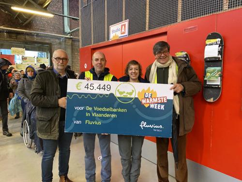Warmste Week: Fluvius-medewerkers zamelen 45.449 euro in