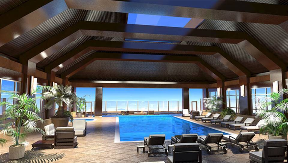 Rendering of the new pool on the 23rd floor of the Monarch Casino Resort Spa